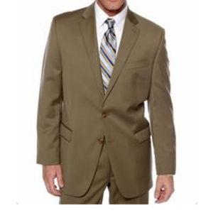 Ralph Lauren Ultraflex Jacket Suit Coat Wool Tan